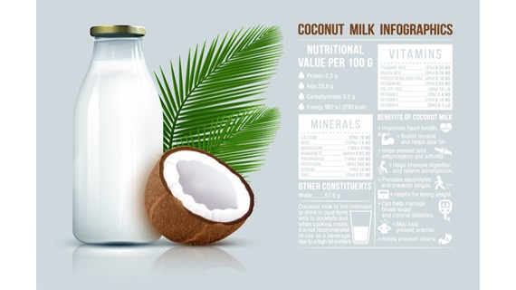 Coconut Milk Infographics
